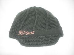 wb455 女 RIP CURL リップカール つば付き ニット帽 オリーブ