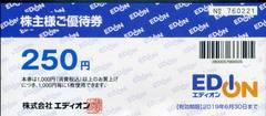 エディオン 株主優待券 250円券×40枚=10000円分