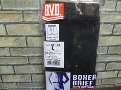 う)送料込(L 黒無地)BVD★ボクサーブリーフ G190TS 前開き 腰板ゴム