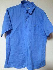 GU*ブルー半袖シャツ*XL