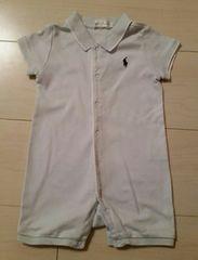 ★ラルフ・ローレン★水色 半袖ロンパース/size60