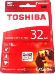 32GB 東芝 クラス10 microSDHCカード(マイクロSD)【ノーあだぷた】 定形外OK