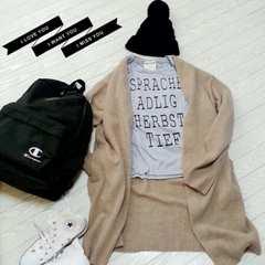 美品 ★ 長袖 ロゴ Tシャツ L ★ グレー 黒 ブラック