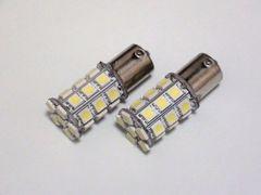 27連 LED バルブ シングル球 ホワイト 2個セット