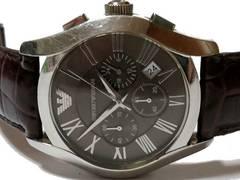 良品 1スタ★エンポリオアルマーニ【クロノグラフ】重厚な腕時計