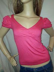 ANAP USA カシュクール パフスリーブ Tシャツ ピンク