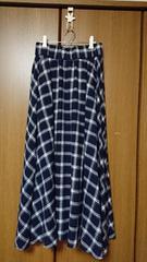 【CRAFT】スカート*マキシ/ロング*紺 ネイビー*チェック*F