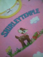 130シャーリーテンプルピンクに小鹿柄ラングラー