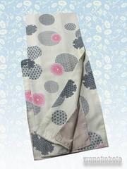 【和の志】洗える着物◇袷Mサイズ◇ベージュ鼠系・雪輪柄◇357