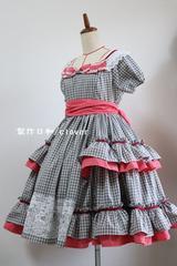 オリジナルドレス チェック M〜Lサイズ