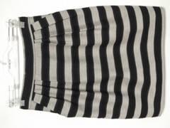 ボルニーBORNY\15000ボーダー柄スカートS日本製マウジースライ