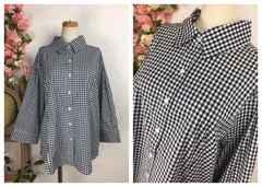 GF124★3L 大きいサイズ 美シルエットベーシックシャツ七分袖