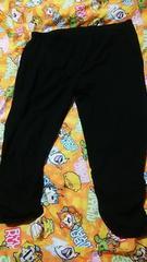 超大きいサイズブラック綿レギンス(///ω///)♪8L