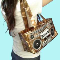 即決新品◆ラジカセバッグ ◆レゲエヒップホップHIPHOPゴールドBAG