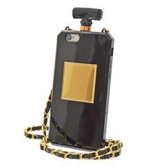 i人気★Phone64.7 香水ケース型スマホケースBK