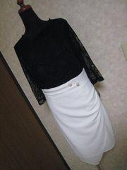 新品JEWELSレース×ホワイトタイトのドレス★XLサイズ