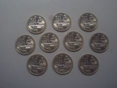 ★地方自治60周年500円貨(愛媛県) 10枚★
