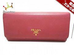 PRADA(プラダ) 長財布 - 1M1132 ピンク レザー