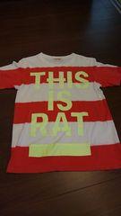 DOARATドゥアラット/赤×白ボーダープリントTシャツ
