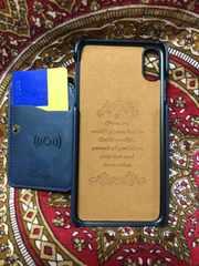 XSMax フェイクレザー カードポケット付き アイフォン多機能