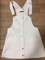 INGNI ハートポケット 白 ジャンパースカート