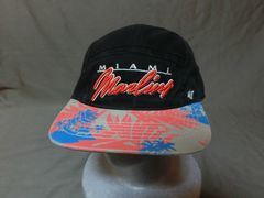 USA購入【FORTY SEVEN】SNAPBACK【Miami Marlins】ロゴ刺繍CAP
