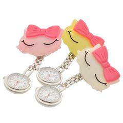 おすましネコ リボンナースウォッチ 懐中時計 看護士 医療 時計