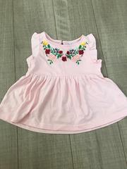 新品ベビチビ女の子トップス80チュニック西松屋購入ピンク