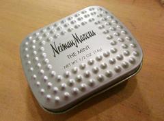 ハワイ購入ニーマンマーカスTHE MINTミントタブレット缶ケース