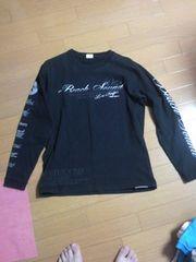 美品ビーチサウンドバナナセブン長袖Tシャツ黒ロンTブラックボディグローブ・送0