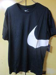 ブラックL NIKE BIG SWOOSH TEE Tシャツ