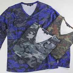メンズ 迷彩柄 カモフラ ニット セーター M