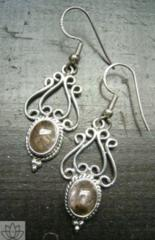 silver925*ルチルクォーツピアス 5.2センチ