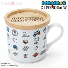 ドラえもん×キティ☆コラボ☆ふた付きマグカップ完売品