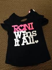 新品・RONI・肩背中開きTシャツ・黒M