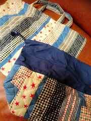 新品☆入学入園準備 星柄 手提げカバン 巾着袋