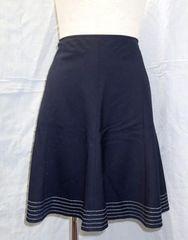 プライベートレーベル◆裾ステッチ入り フレアスカート/サイズ2