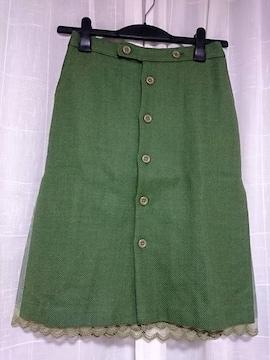 即決★美品★aquagirl購入CROLLA★レーススカート★36
