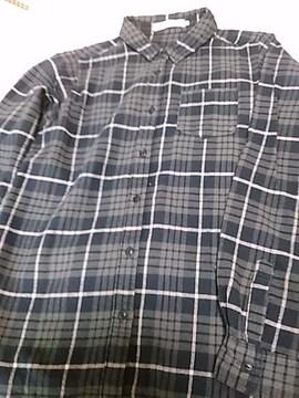 ショコラフィネローブ 綿チェック長袖シャツ