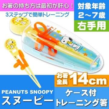 スヌーピー デラックストレーニング箸 ケース付 ADXT1S Sk419