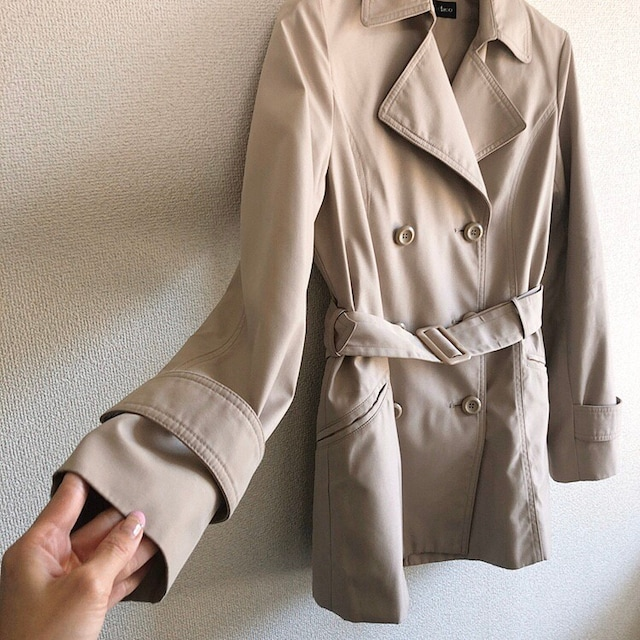 ◆定番トレンチコート◆ベージュ11R*冬コーデ/通勤OL★ライトアウター < 女性ファッションの