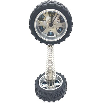 アルミホイール・タイヤの置き型時計 アラーム付