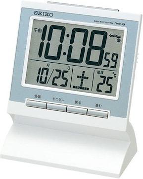セイコー 電波めざまし時計「SQ681W」新品!