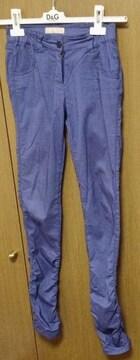 インタープラネット*ブルー パンツ 38サイズ  春夏物