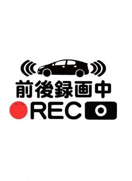 ドライブレコーダー カッティングステッカー