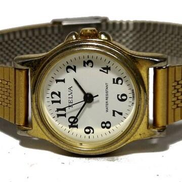 良品【980円〜】TELVA アンティーク調 レディース腕時計