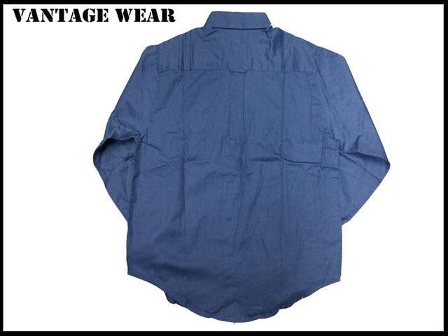 新品 【ブル色-XS】 Vantage 長袖シャツ アメリカ輸入品 < 男性ファッションの