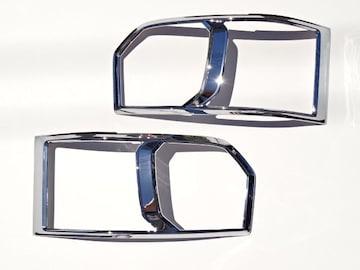 クロームメッキ ヘッドライトリング ハイエース 200系 4型 ハロゲン車用