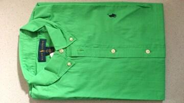 82%オフアメカジ、Polo、ラルフローレン、半袖シャツ(新品タグ、緑、メンズM)