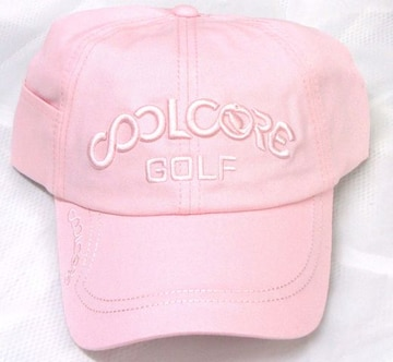 新品 COOL CORE 冷感 UV キャップ 帽子 ピンク メンズ